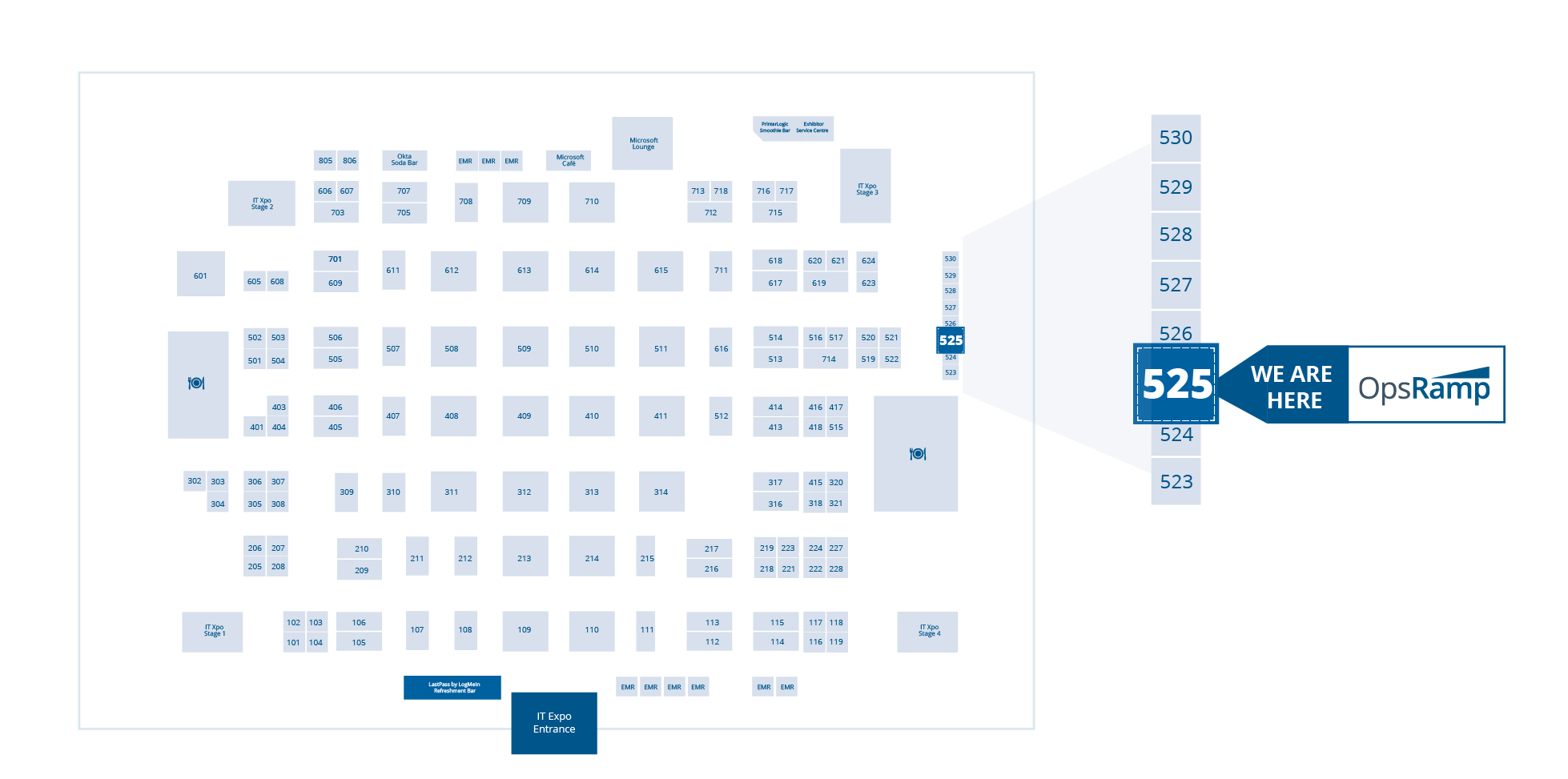 Connect with OpsRamp at booth #525